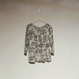 Lucky Brand floral blouse size M